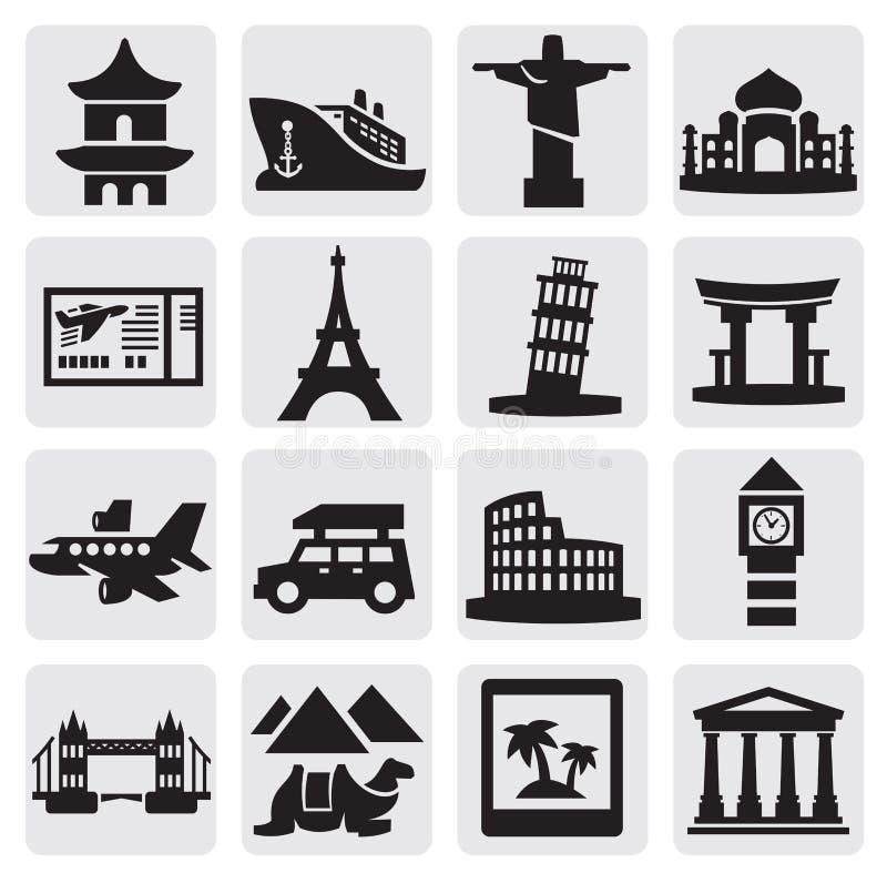Travel And Landmarks Set Stock Photos