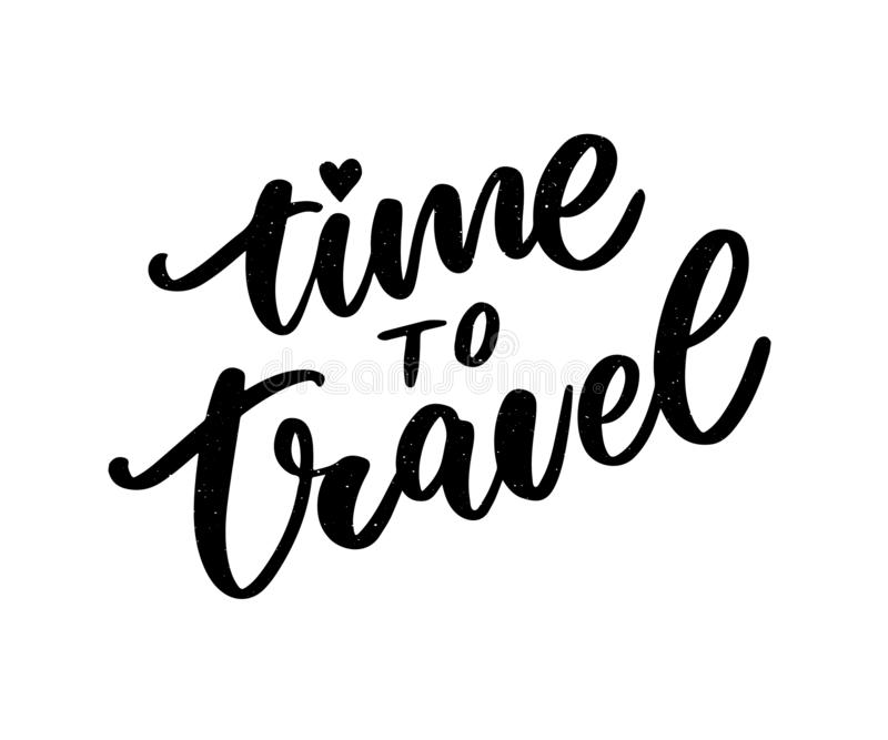 Travel life style inspiration quotes lettering. Motivational typography. Calligraphy graphic design element. Collect moments Old. Ways wont open new doors. Lets royalty free illustration