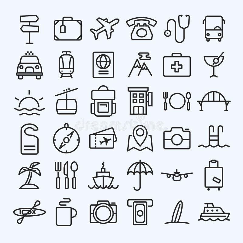 Travel line icons set. Eps 10 stock illustration