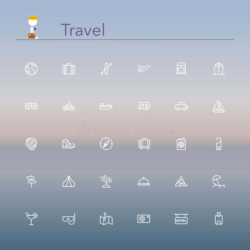 Travel Line Icons vector illustration