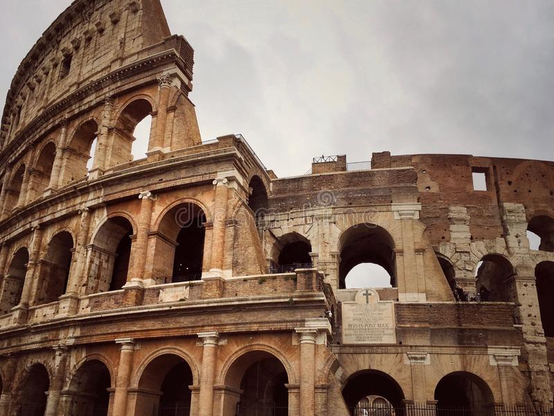 The magic Colosseum of eternal city stock photo