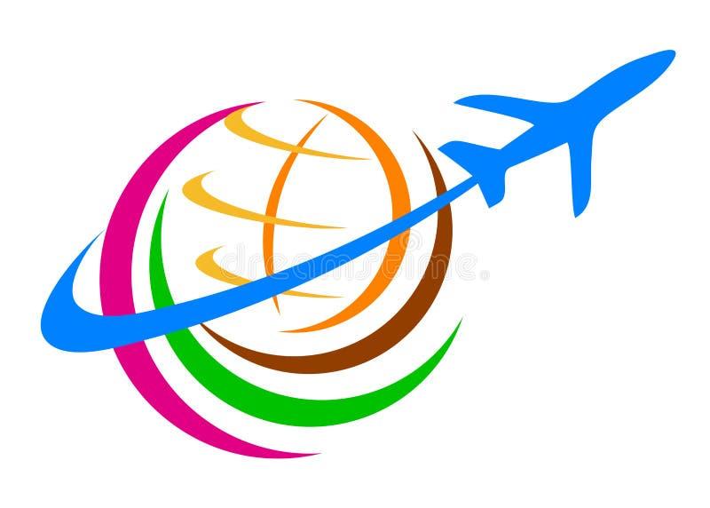 Travel logo. Illustration of travel logo design isolated on white background