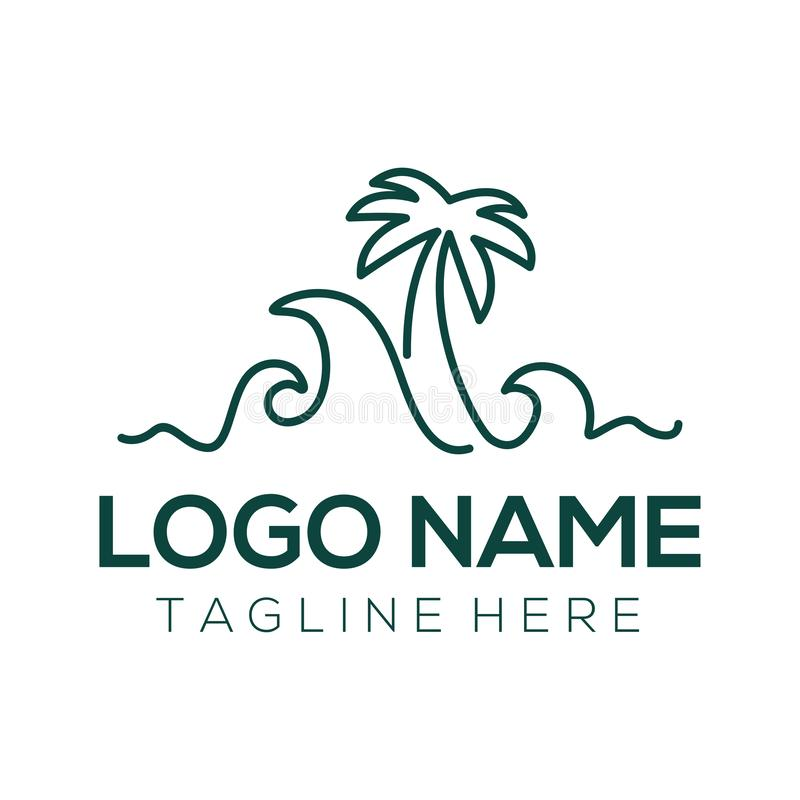 Travel logo and icon design. Suitable for your business, company and personal branding royalty free illustration