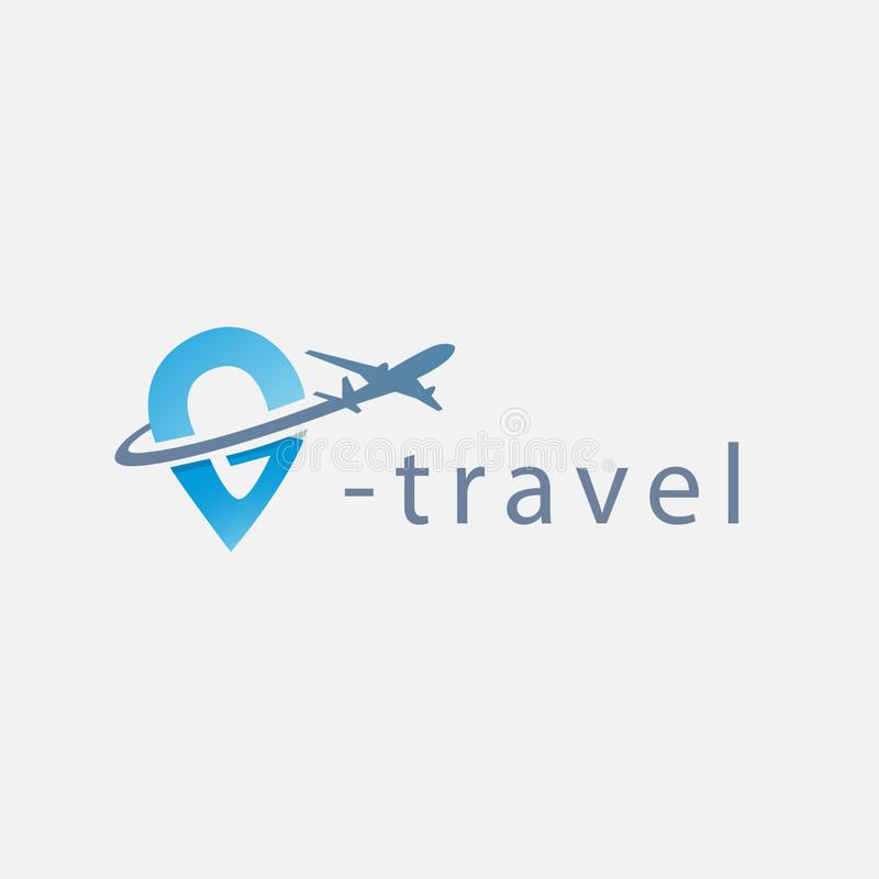 Travel logo template royalty free illustration