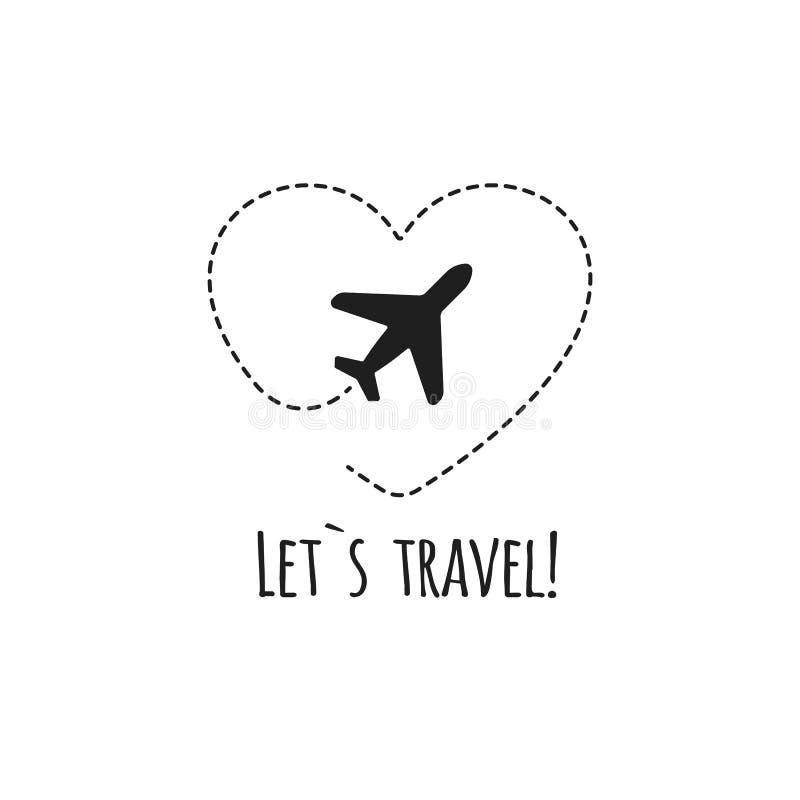 Travel Logo Vector Illustration Black Airplane Stock Vector Illustration Of Design Trip 115729226
