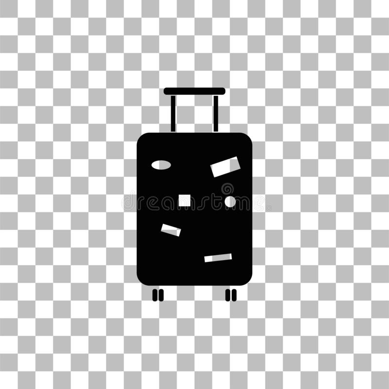 Travel Luggage icon flat vector illustration