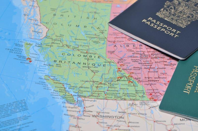 Travel Map Royalty Free Stock Photos
