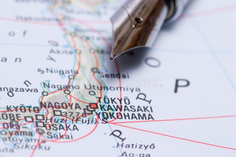 Travel Map Tokyo, Japan stock photography
