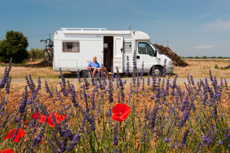 Download Travel by mobile home stock image. Image of senior, nature - 24352055
