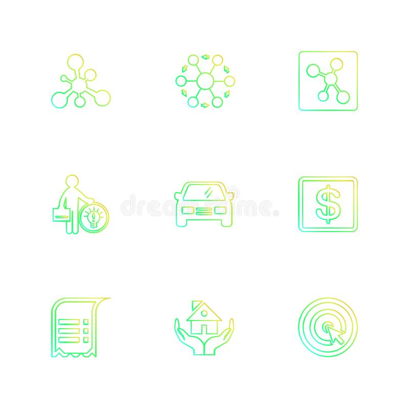 Travel , money , shopping , destination , navigation , eps icons. Travel , money , shopping , destination , navigation , search , document , car , bus , plane stock illustration