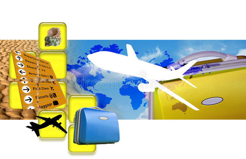 Download Travel montage stock illustration. Illustration of storage - 3168596