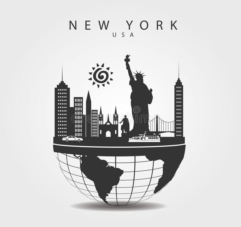 Free Travel Monuments In New York. United Sates Top Of The World Royalty Free Stock Photos - 136596188