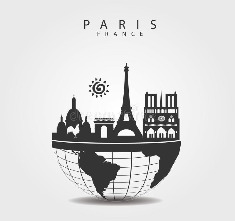 Free Travel Monuments In Paris. France Top Of The World Stock Photography - 136596182