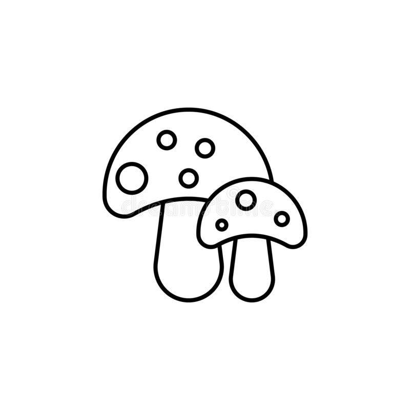 Travel mushrooms outline icon. Elements of travel illustration icon. Signs and symbols can be used for web, logo, mobile app, UI, royalty free illustration
