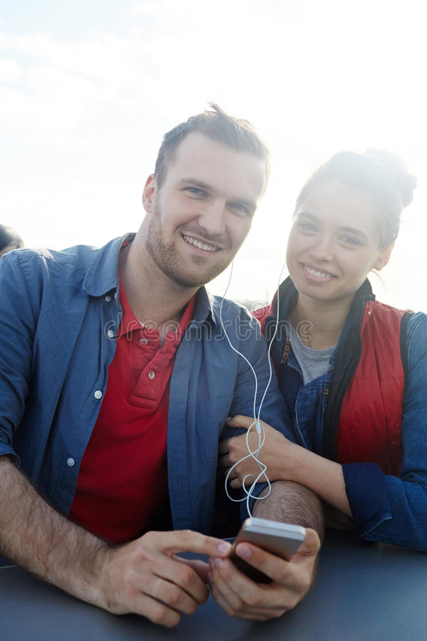 Travel with music stock image