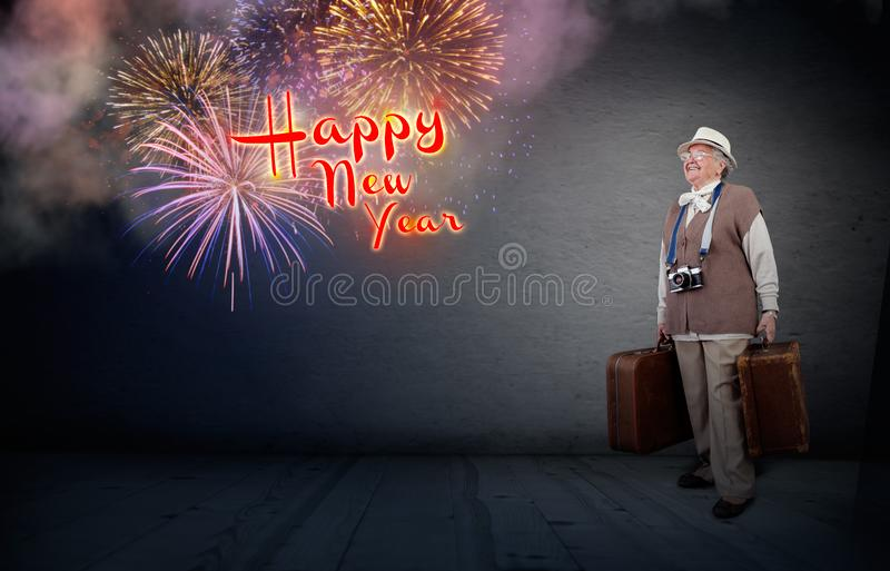 Travel for the new year royalty free stock image