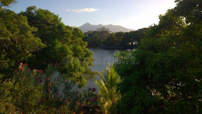 Travel nicaragua: Mombacho royalty free stock photos