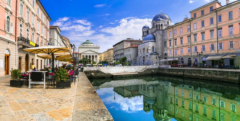 Travel in northern Italy - elegant Trieste town stock photo