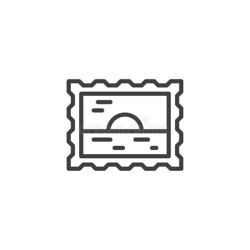 travel passport stamp outline icon stock vector illustration of rh dreamstime com singapore passport stamp vector mexico passport stamp vector