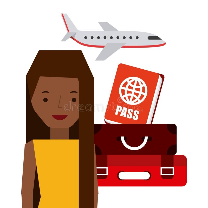 travel an people design stock illustration