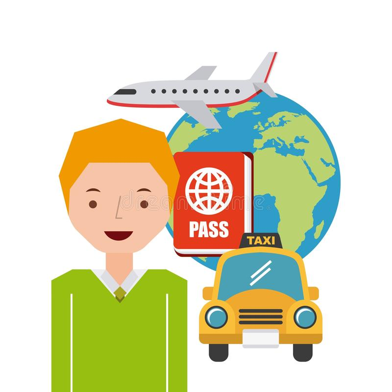 travel an people design royalty free illustration