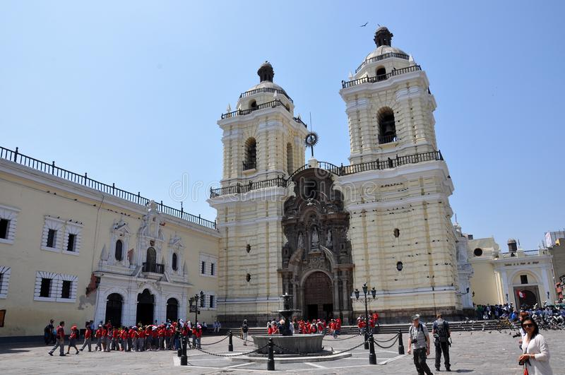 Travel peru lima and cusco and markets royalty free stock photos