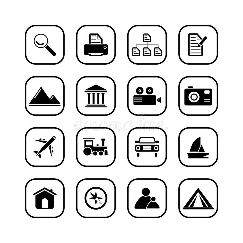 Download Travel And Photo Icons - B&W Series Royalty Free Stock Photo - Image: 10773815