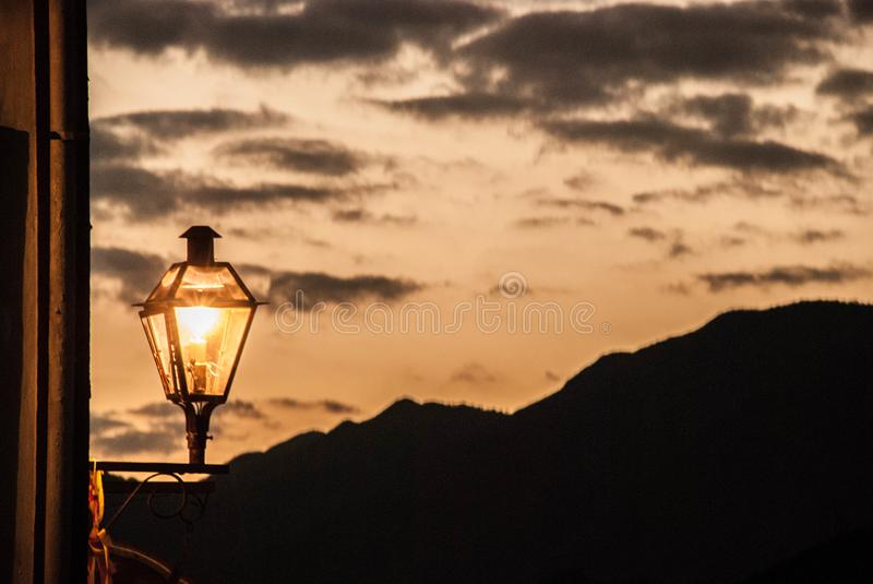 Travel photography - Amazing colors in evening sky. royalty free stock photos