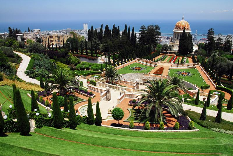 Travel Photos of Israel - Bahai Shrines in Haifa royalty free stock images