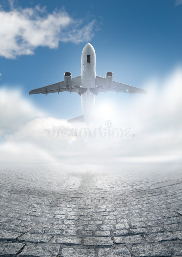 Travel by Plane royalty free stock image