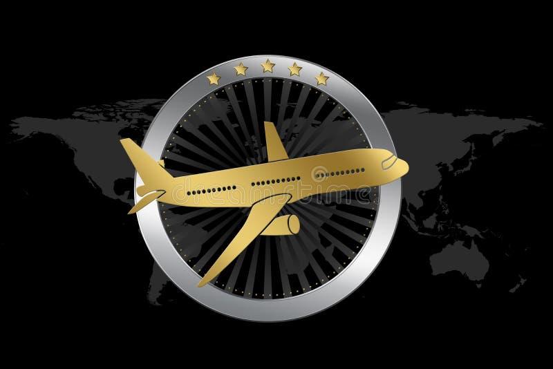 Travel Plane Airline Symbol In Luxury Style Stock Illustration