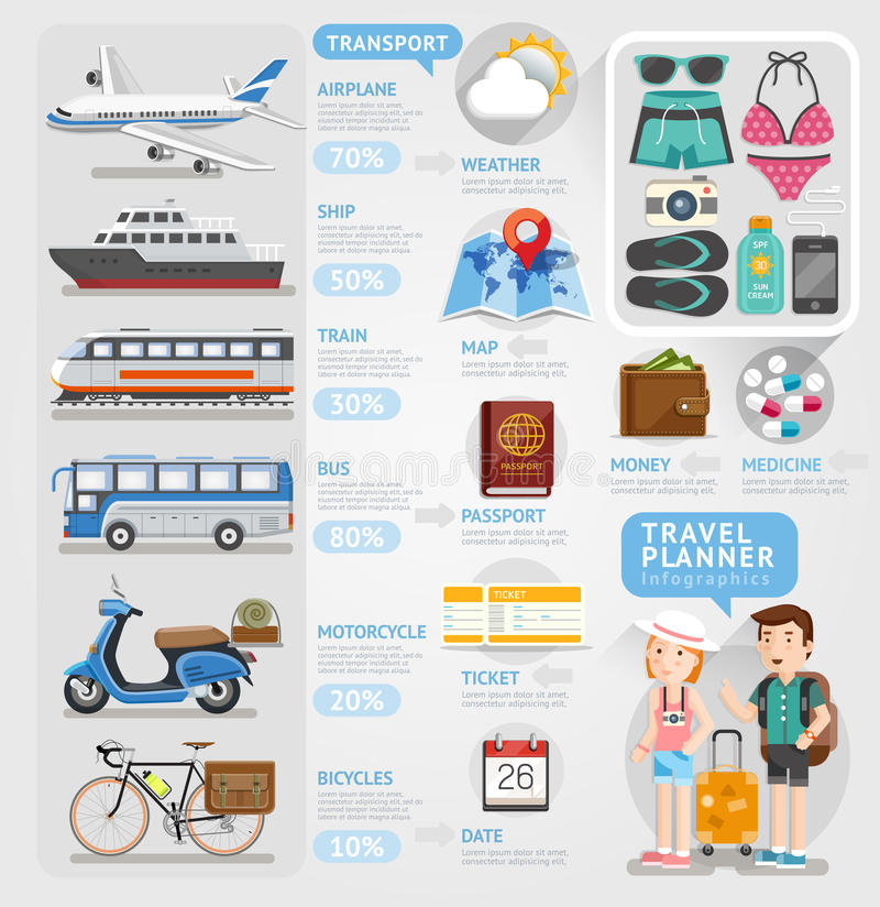 Free Travel Planner Infographics Element. Stock Photo - 45713730