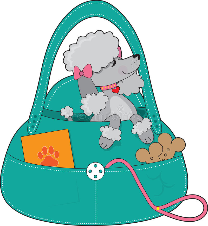 Download Travel Poodle stock illustration. Image of canine, pretty - 23020794