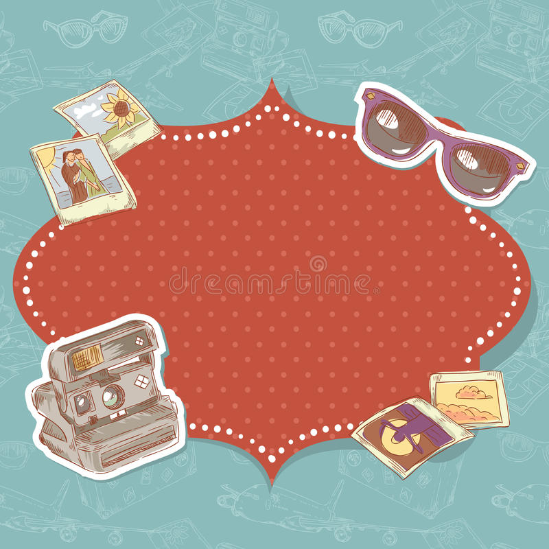 Download Travel postcard stock vector. Image of camera, card, fashion - 28965434