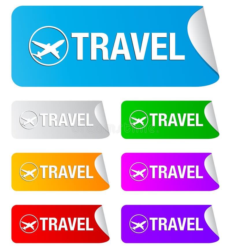 Download Travel, Rectangular Stickers Stock Vector - Image: 17117807
