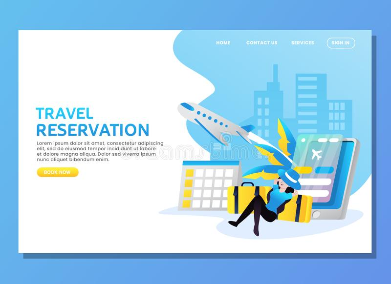 Travel reservation with woman waiting for plane stock photography