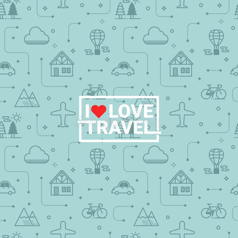 Travel seamless background royalty free illustration