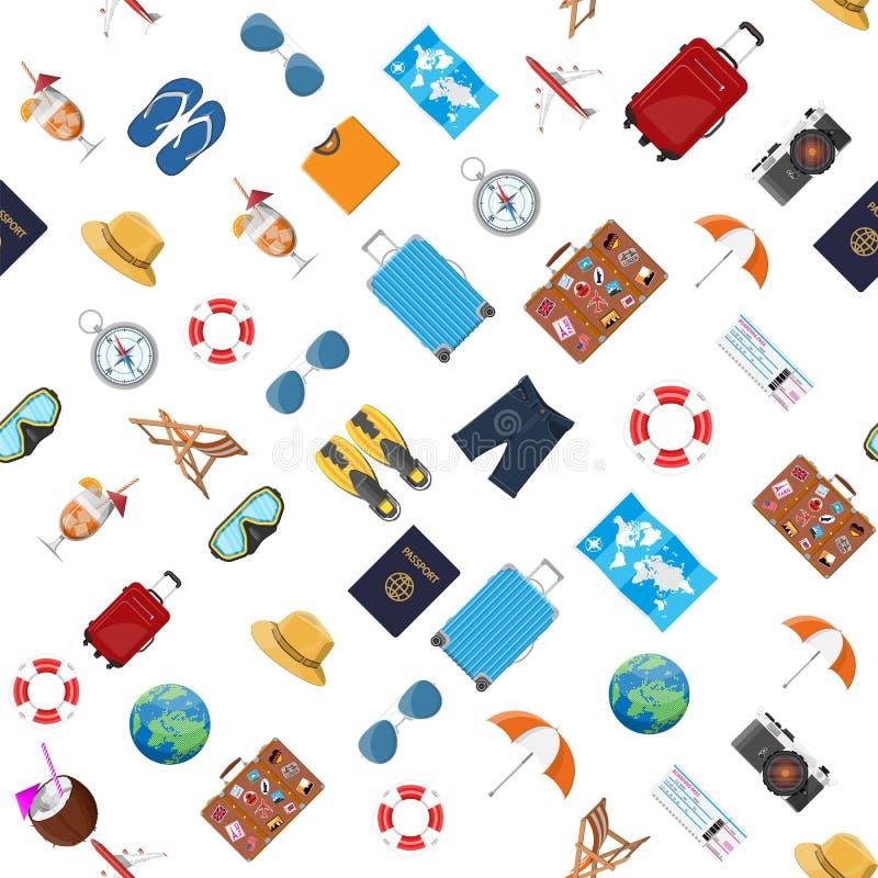 Travel seamless pattern. royalty free illustration