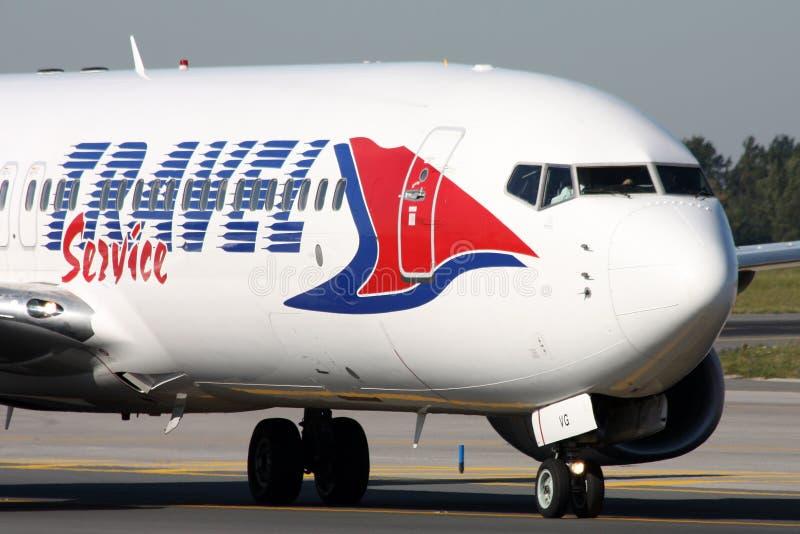 Travel Service Boeing B737 imagens de stock royalty free