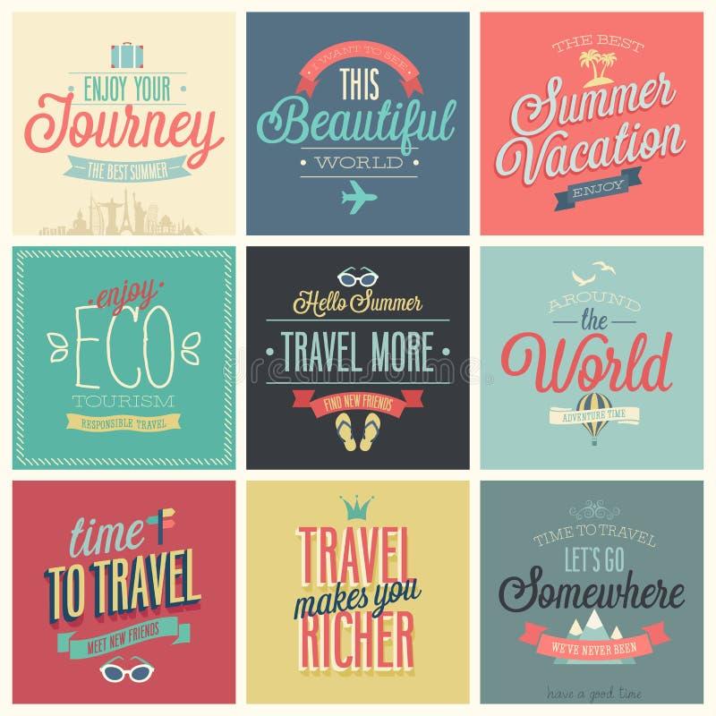 Travel set vector illustration