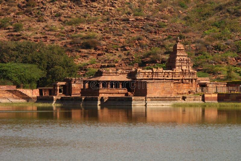 Travel shot of Badami water temple stock image
