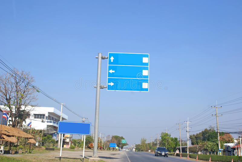 Travel signs. In thailand stock photos