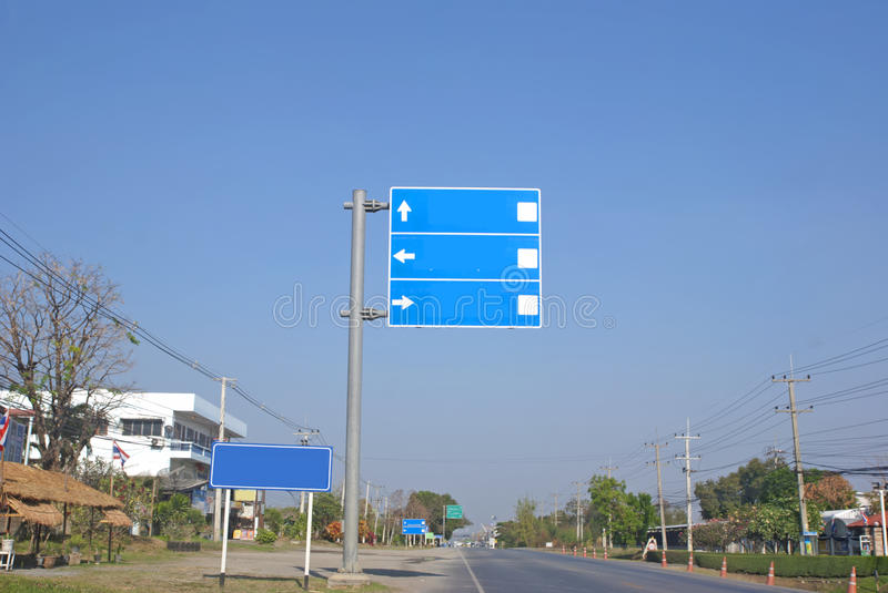 Travel signs. In thailand royalty free stock photos