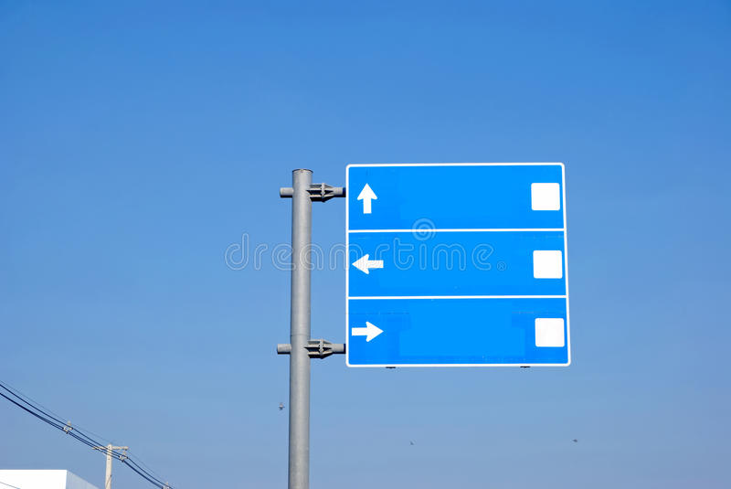 Travel signs. In thailand royalty free stock images