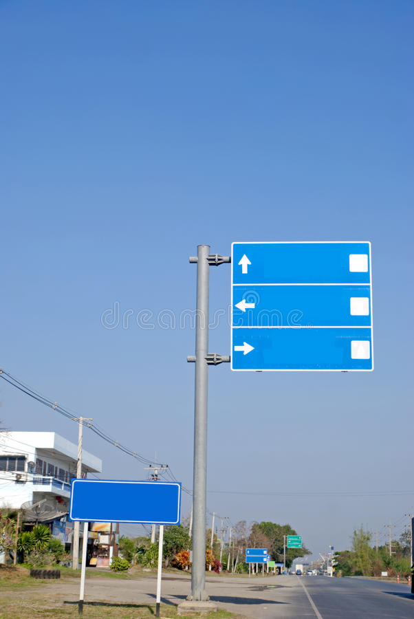 Travel signs. In thailand royalty free stock photography