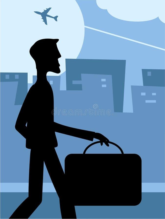 Travel Silouette stock illustration