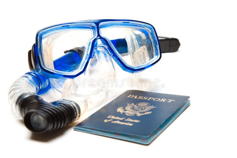 Travel and snorkeling stock photo