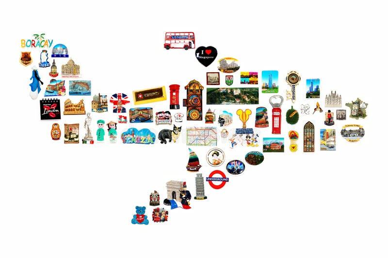 Travel souvenirs stock images