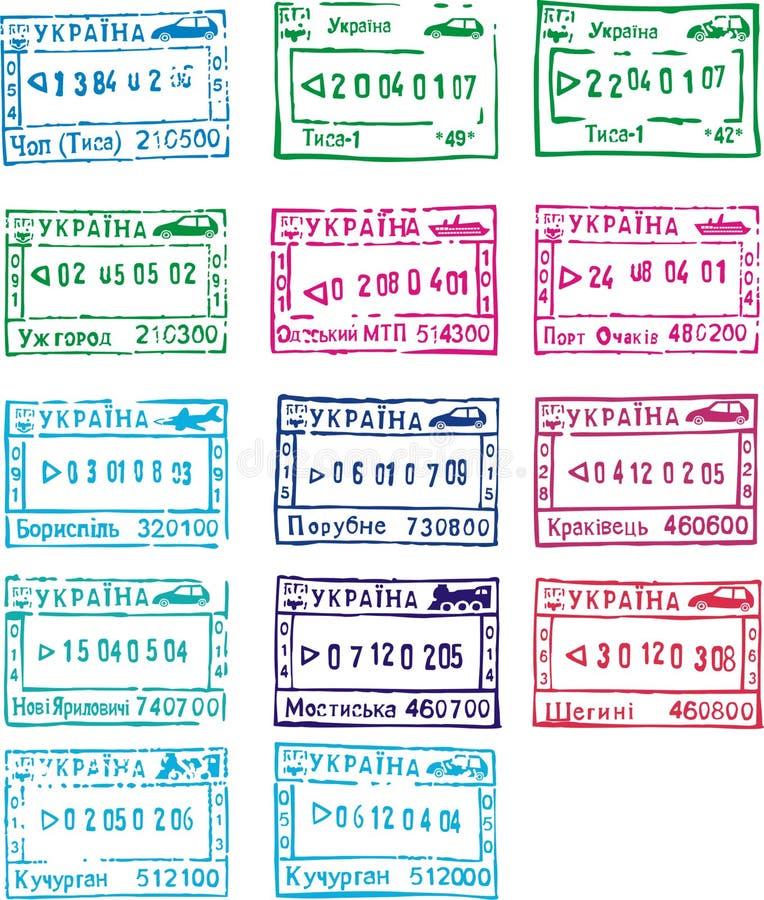 Download Travel stamps of ukraine stock vector. Image of illustration - 7019941