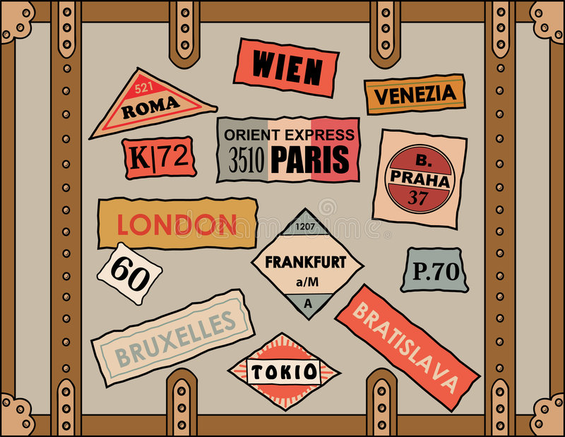 Download Travel Stickers Royalty Free Stock Photos - Image: 5528718